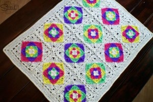 Optical Illusion Baby Blanket ~ Stitch11
