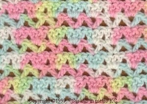 Alternating V Shell Afghan #1 ~ Handcrafting With Love