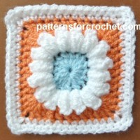 3 Colored Granny Square ~ Patterns For Crochet