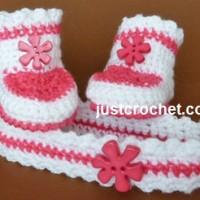 Headband and Booties ~ JustCrochet