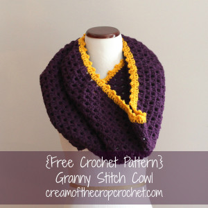 Granny Stitch Cowl ~ Cream Of The Crop Crochet