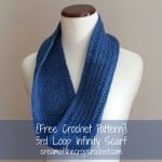 3rd Loop Infinity Scarf ~ Cream Of The Crop Crochet