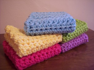 Simple and Practical Dish Cloth ~ Stitch11