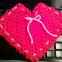 """Corner Of My Heart"" Gift Pouch ~ iYarny"