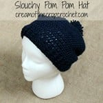Slouchy Pom Pom Hat ~ Cream Of The Crop Crochet