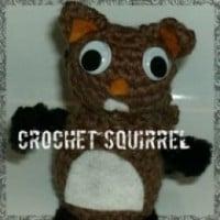 Crochet Squirrel ~ Sara Duggan - MomwithAHook