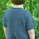 Two-Tone Raglan Top-Down Summer Cardigan ~ ABC Knitting Patterns