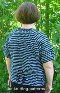 Two-Tone Raglan Top-Down Summer Cardigan ~ ABC Knitting Patterns