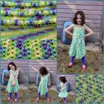 Puff Stitch Halter Dress ~ Jessie At Home