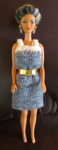 Doll Sock Dress ~ My Recycled Bags