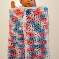 Doll Wavy Ripple Blanket ~ My Recycled Bags