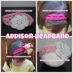 Addison Headband ~ Elisabeth Spivey - Calleigh's Clips & Crochet Creations