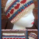 Cross Your Heartland Headband ~ Elisabeth Spivey - Calleigh's Clips & Crochet Creations