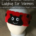 Ladybug Ear Warmers ~ Cream Of The Crop Crochet