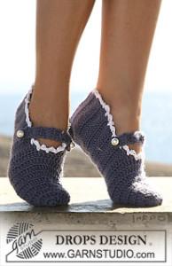 Feminine Slippers ~ DROPS Design