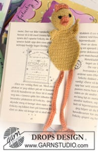 Chicken Bookmark ~ DROPS Design