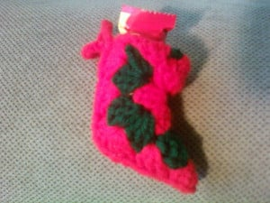 Candy Stocking Ornament ~ iYarny