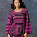 Square Deal Sweater ~ Tammy Hildebrand - Red Heart