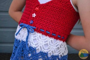 Child's Beach Grass Tank Top ~ The Evergreen Shore - Cre8tion Crochet