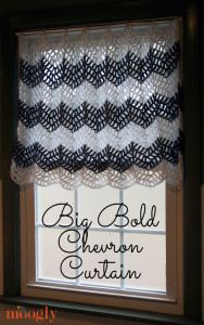 Big Bold Chevron Curtain ~ Moogly
