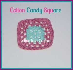 Cotton Candy Square ~ American Crochet