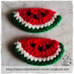 Watermelon Wedge Applique ~ Damn it Janet, Let's Crochet