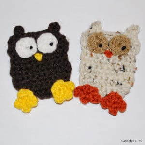 Owl Applique ~ Elisabeth Spivey - Calleigh's Clips & Crochet Creations