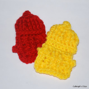 Fire Hydrant Applique ~ Elisabeth Spivey - Calleigh's Clips & Crochet Creations