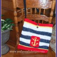 Nautical Lined Tote Bag ~ Sara Sach – Posh Pooch Designs