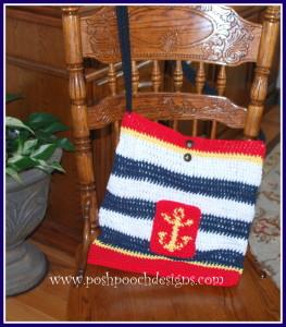 Nautical Lined Tote Bag ~ Sara Sach - Posh Pooch Designs