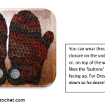 Drew's Easy-On Mittens ~ Oombawka Design