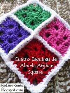 Cuatro Esquinas de Abuela Afghan Square ~ EyeLoveKnots