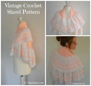 Vintage Crochet Shawl ~ Free Crochet Patterns and Designs by LisaAuch