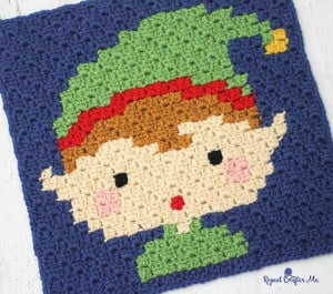 Crochet Elf Pixel Square ~ Repeat Crafter Me