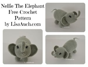 Nellie The Elephant ~ Free Crochet Patterns and Designs by LisaAuch