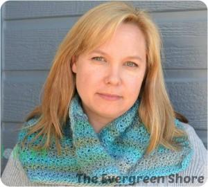 Flip Your Collar Cowl ~ Krista Short/The Evergreen Shore - Cre8tion Crochet