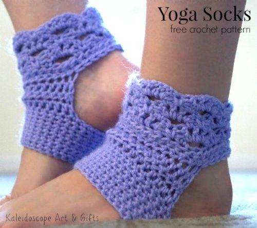 Perfect Harmony Yoga Socks Free Crochet Pattern