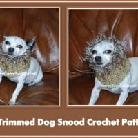 Fur Trimmed Dog Snood ~ Sara Sach - Posh Pooch Designs