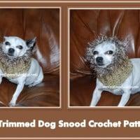 Fur Trimmed Dog Snood ~ Sara Sach – Posh Pooch Designs