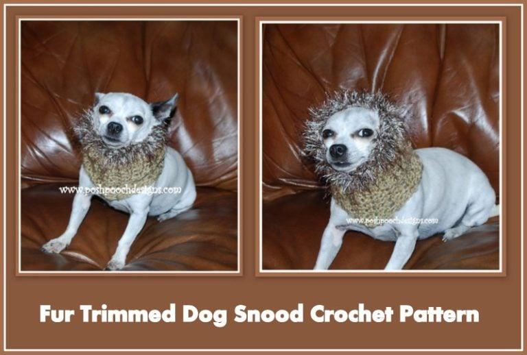 Free Crochet Pattern Dog Snood : Fur Trimmed Dog Snood ~ FREE Crochet Pattern