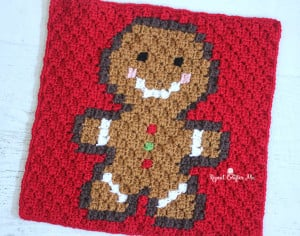 Gingerbread Man Pixel Square ~ Repeat Crafter Me