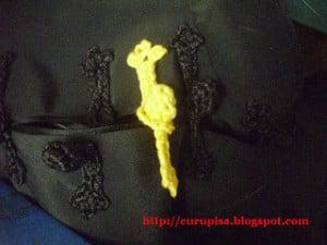 Crochet Button with Loop ~ Curupisa