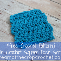 Double Crochet Square Face Scrubbie ~ Cream Of The Crop Crochet