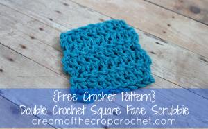 Double Crochet Square Face Scrubbie ~ Cream Of The Crop Crochet