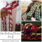 Interlocking Chains Scarf ~ Creative Threads by Leah – Cre8tion Crochet