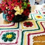 Joyful Flowers Table Runner ~ Pattern Paradise