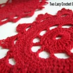 Two Lacy Crochet Coasters ~ Craftbits