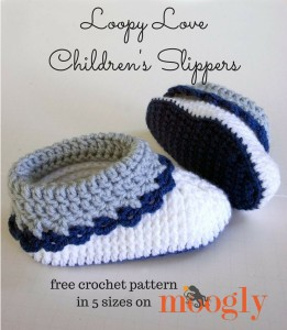 Loopy Love Children's Slippers ~ Moogly
