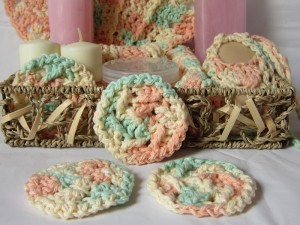 Diagonal Textured Face Scrubby ~ Crochet is the Way