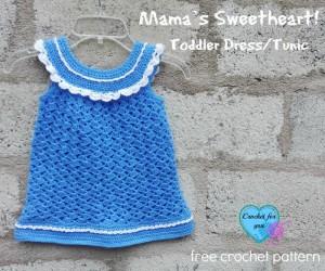 Mama's Sweetheart! Toddler Dress/Tunic ~ Erangi Udeshika - Crochet For You